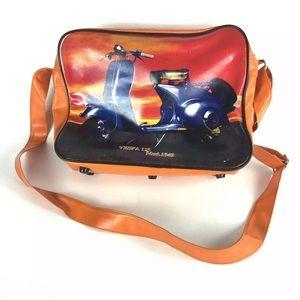 Vespa Messenger Bag Orange Vinyl